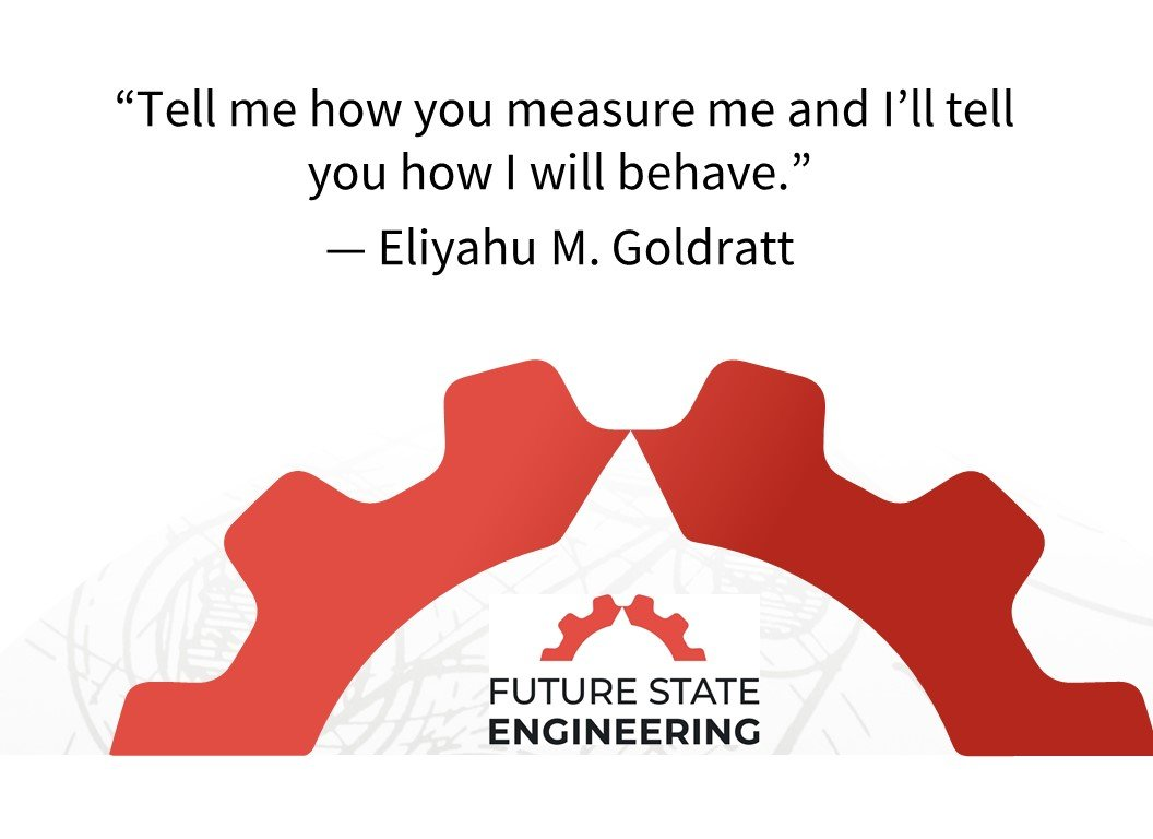 """Tell me how you measure me and I'll tell you how I will behave."" - Eliyahu M. Goldratt"